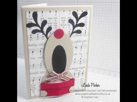 Die Cut Rudloph The Red Nosed Reindeer Card - Stampin' Up! Style http://www.papercraftwithcrafty.co.uk/2017/11/video-tutorial-carol-singing-rudolph.html