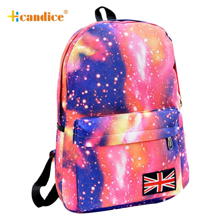 New Design 2016 Hot Sale Galaxy Pattern Unisex Travel Backpack Canvas Leisure Bags School Bag3 Sep01