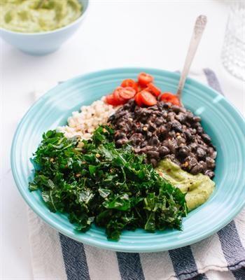 ... kale black bean and avocado burrito bowl more kale black bean healthy
