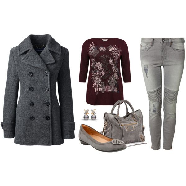 Materia Gris by romaosorno on Polyvore featuring moda, M&Co, Lands' End, Devoted, Clarks and Balenciaga