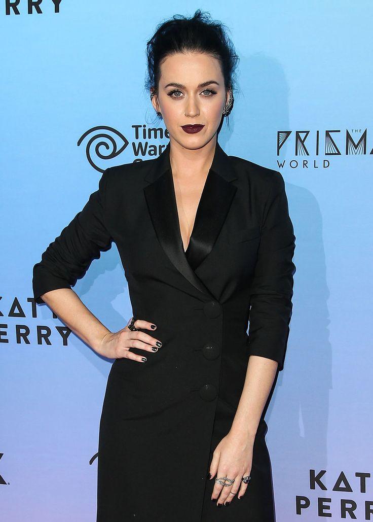 Katy Perry's Dark Romance: Plum Lips and aTexturedBun – Vogue