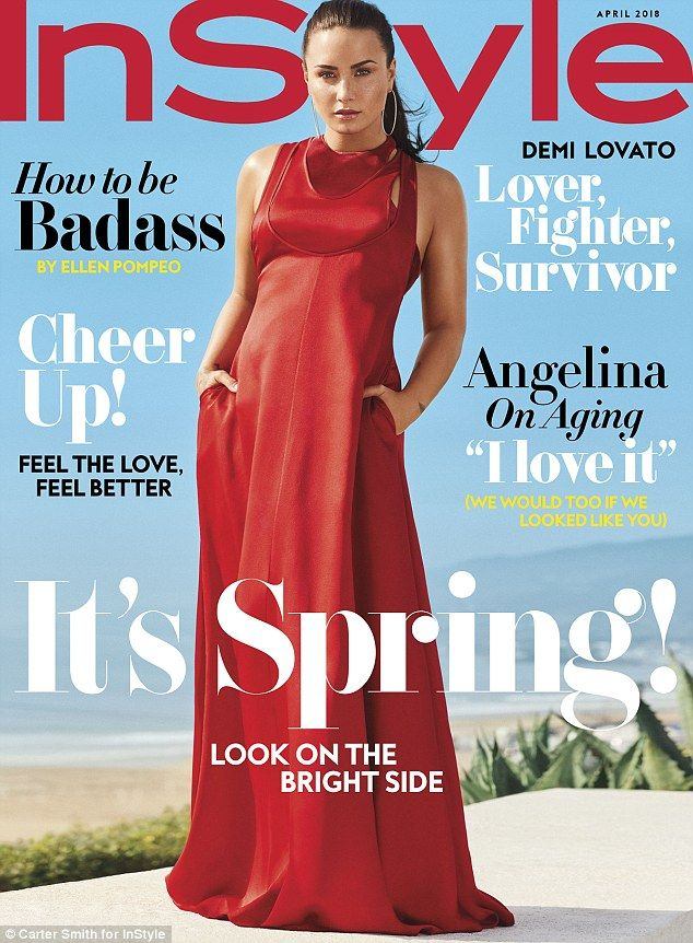 'Lover, fighter, survivor': Demi Lovato graced the cover of Instyle's February issue. She talked candidly with the magazine about her dating life and being six years sober