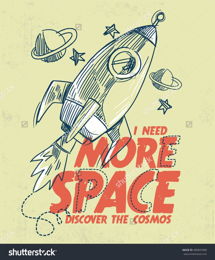 Rocket launch illustration with typography, for kids t shirt desing, poster and other uses