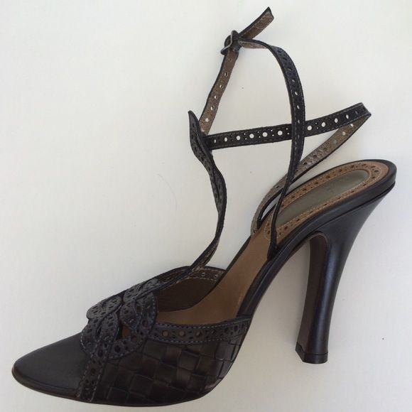 Bottega Veneta Black Sexy Sandal Genuine Bottega Veneta black sandal. Absolutely gorgeous and have never been worn. Comes in box with dust covers. These run small. I wear a size 9 and they fit me. Bottega Veneta Shoes