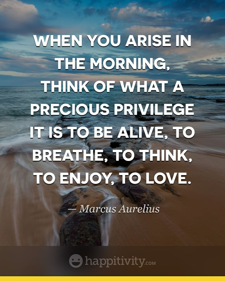Life Is Great! What A Privilege It Is To Be Alive, Right Now! My HouseSoul  QuotesFriendship QuotesHappy ThoughtsQuotes MotivationInspiration ...