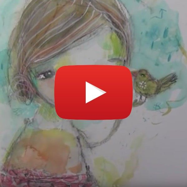 Danielle Donaldson Inspired Watercolor Girl by Mindy Lacefield | Free video tutorial from The Studio