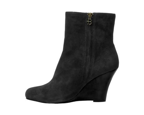 3.5 Wedge Bootie Noir Kid Suede AT, DE www.pediped.at