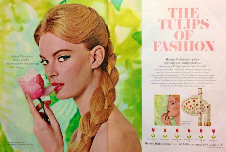 Helena rubinstein tulip fashion stick lipstick amp powder compact ad