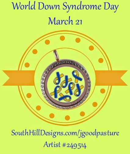 Down syndrome awareness locket from South Hill Designs. Jeanna Goodpasture (Memory Locket Creations) - Google+