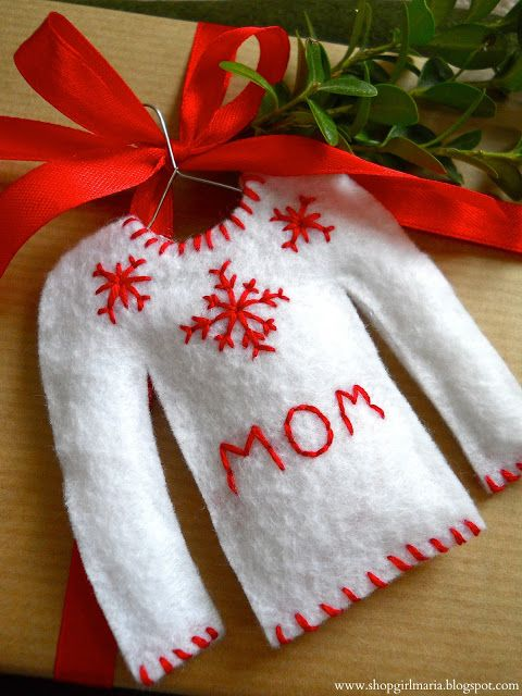 Christmas Sweater Personalized Gift Tag...diy