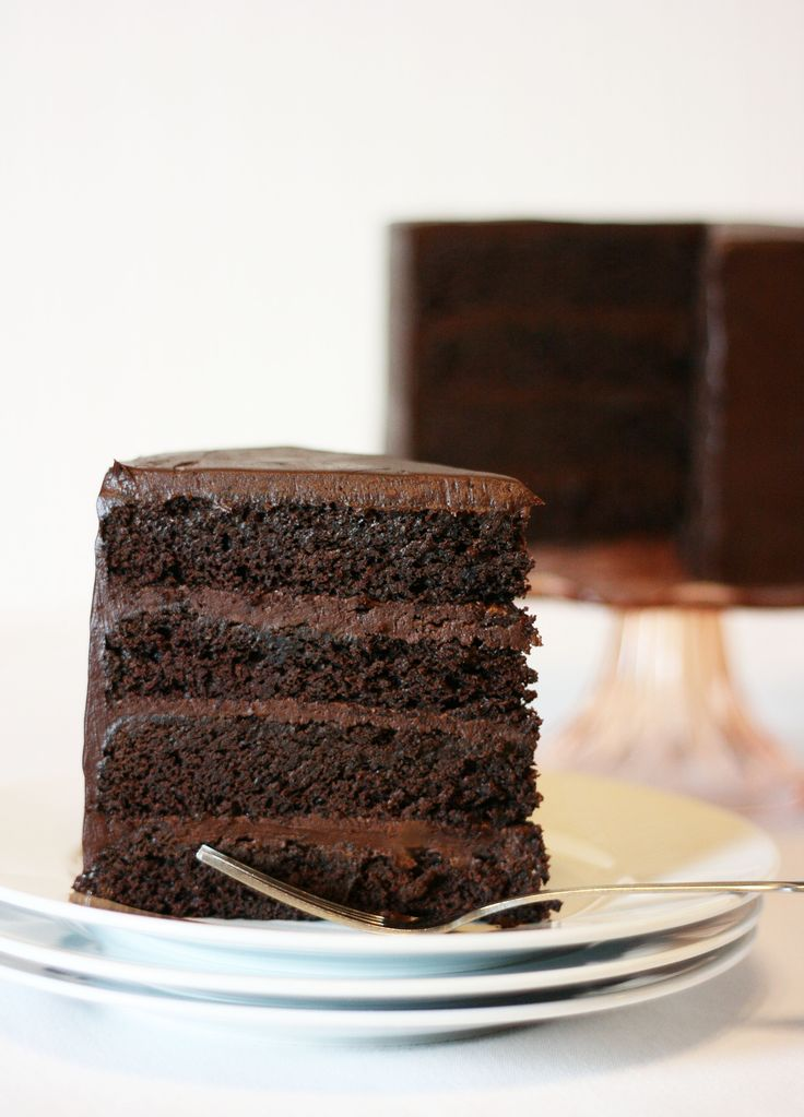 Dense Chocolate Cake For Stacking