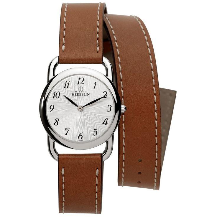 Montre Herbelin Equinoxe acier cadran gris bracelet double tour - Lepage