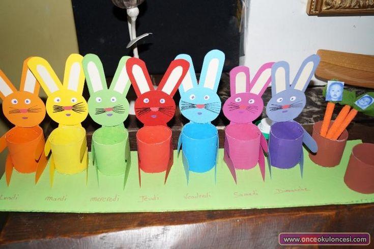 Rulodan Tavşanlı Havuçlu Haftanın Günleri - Önce Okul Öncesi Ekibi Forum Sitesi - Biz Bu İşi Biliyoruz