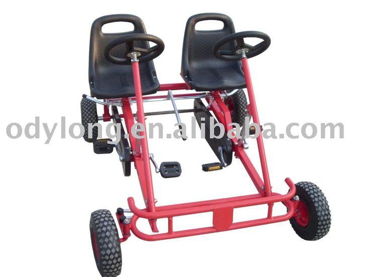 Assento duplo - pedal vai kart// pedal carrinho/ crianças pedal kart