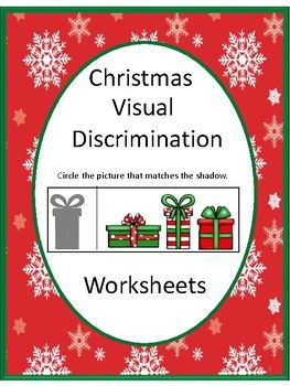 This Christmas Visual Discrimination worksheet set helps students in preschool, kindergarten, special education and autism classrooms work on visual discrimination and fine motor skills. These worksheets will make a good addition to your Christmas Unit.