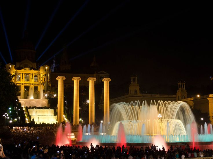 The annual Christmas music and water display begins once more at the Magic Fountain, adding to the festive cheer in the city.
