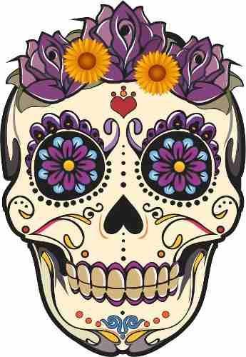 caveira mexicana colorida - Pesquisa Google