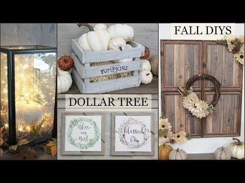 BEST Dollar Store Fall Farmhouse DIY craft project…