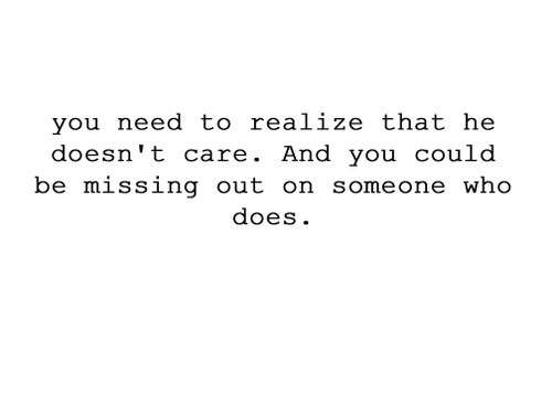 Missing out.
