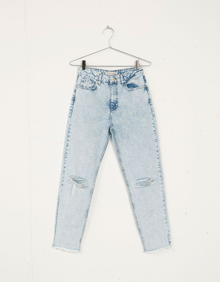 Used-look jeans Mom, Bershka. - Jeans - Bershka Netherlands