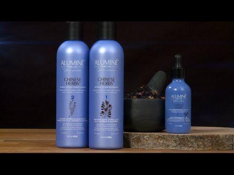 Sistema per la cura dei capelli alle erbe cinesi Aluminé