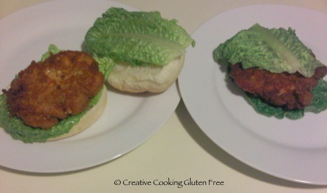 I've GOT to try this. Wendy's copycat spicy chicken sandwich. Made with GF Bisquick.