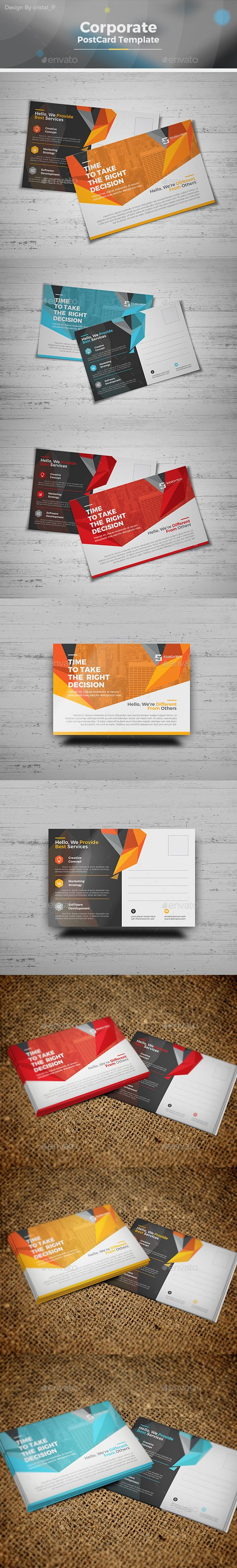 95 best corporate postcard template images on pinterest