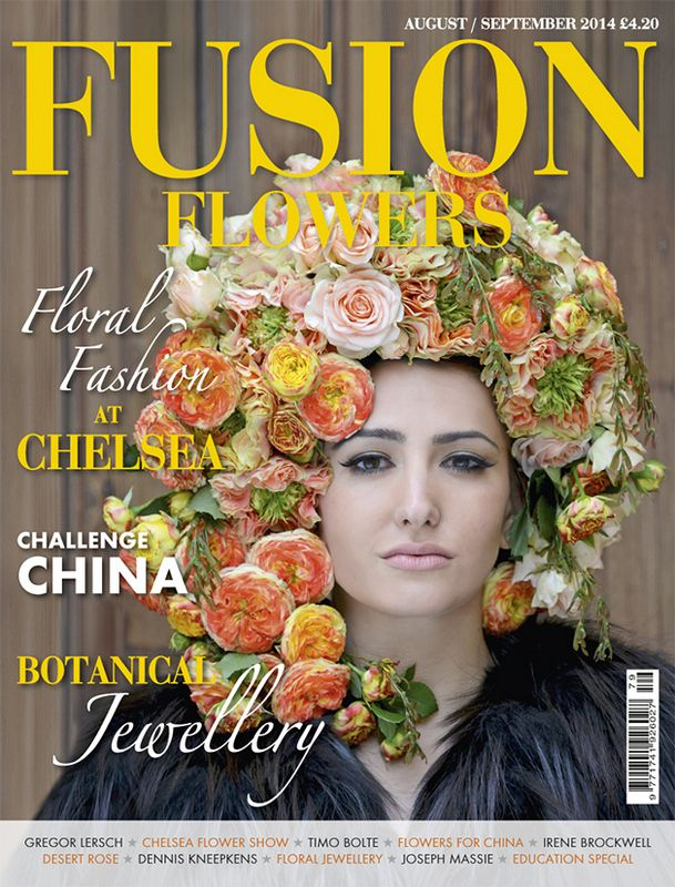 Front cover of Fusion Flowers magazine Issue 79 - design by Timo Bolte www.fusionflowers.com