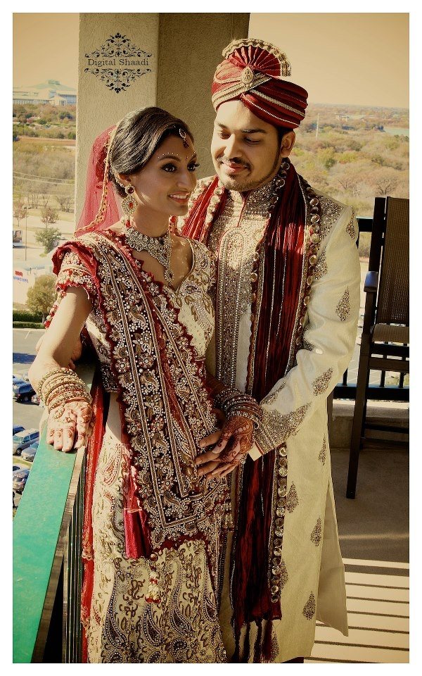 stunning Indian shaadi bridal couple  www.weddingsonline.in for Indian Wedding Shoes, Decor, Lehengas and Sarees