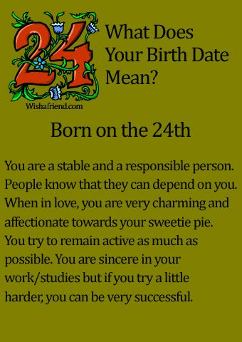 What Does Your Birth Date Mean? - Born on the 24th