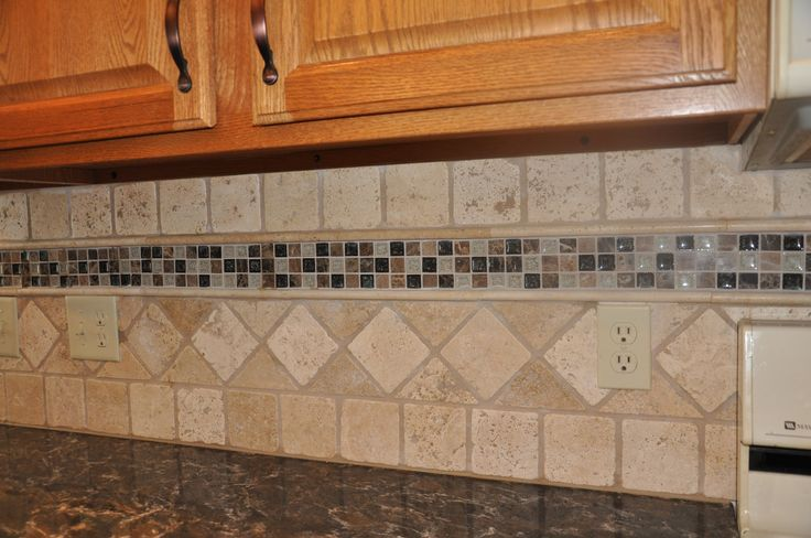 natural stone backsplash kitchens pinterest natural