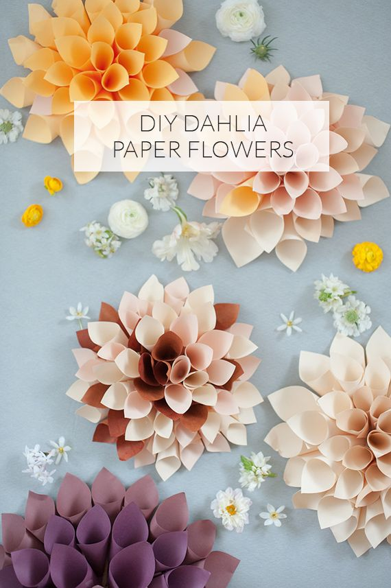 DIY Dahlia Paper Flowers Tutorial