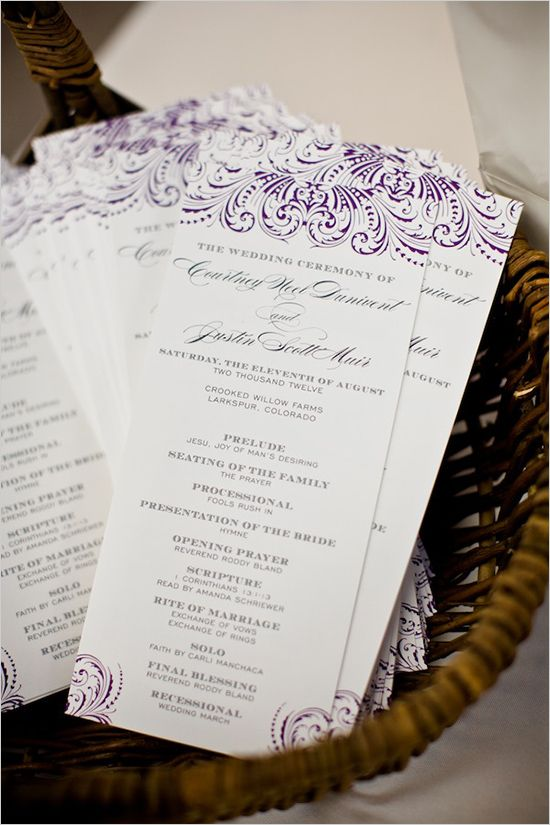 17 Best ideas about Wedding Programs Wording on Pinterest ...