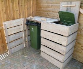 Pallet Trash Compartments