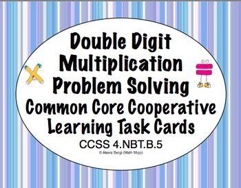 79 best math task cards images on pinterest math task cards common core math task cards multiplication double digit ccss 4nbtb5 fandeluxe Gallery