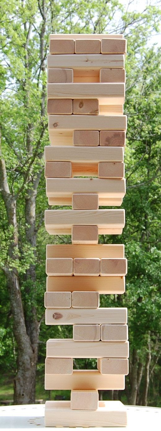 54 2x3 Giant Jenga Block Tumble Tower Game by twosorethumbs