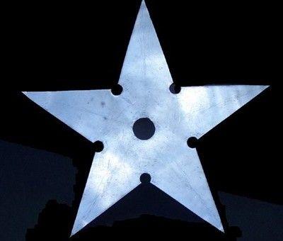 Antique Tin Quilt Template Huge Sheet Metal Star (10/30/2007)