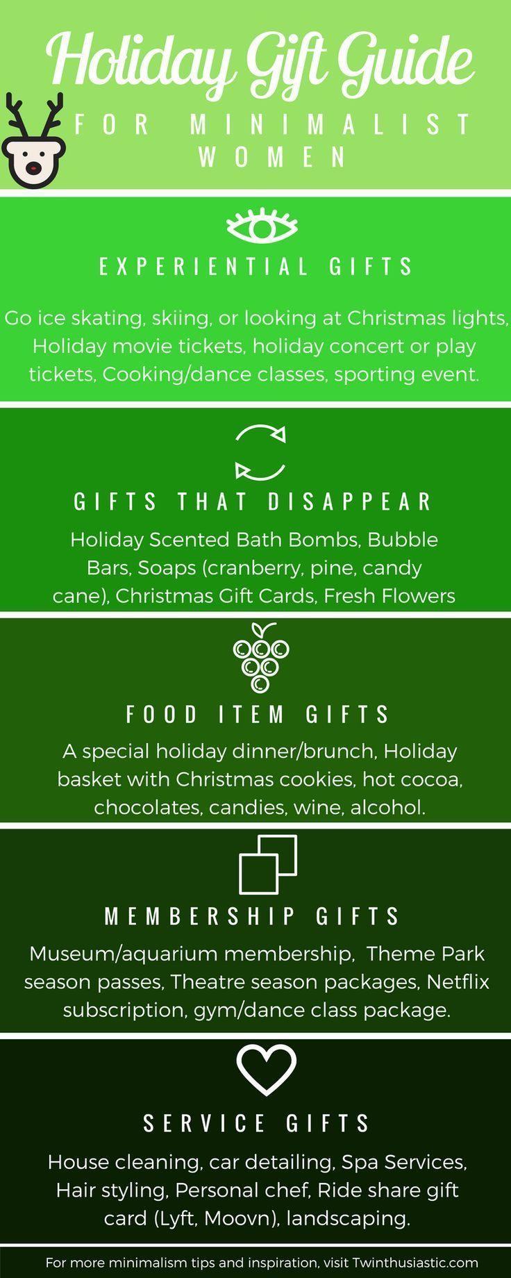 Weihnachtsferien-Geschenkguide für minimalistische Frauen ...