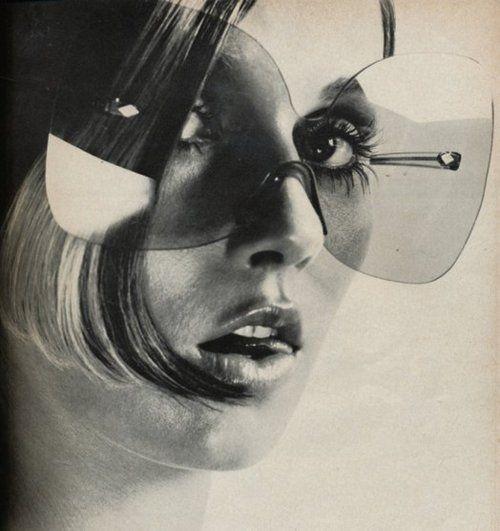 The biggest sunglasses ever made? Vogue, 1969.