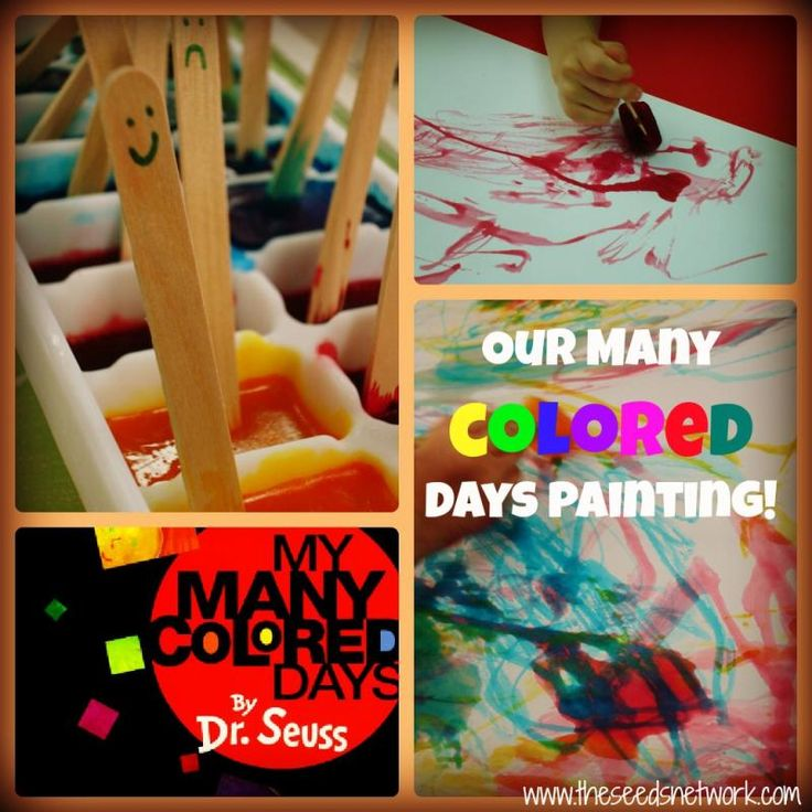 """Our """"Many Colored Days"""" ice cube painting"""