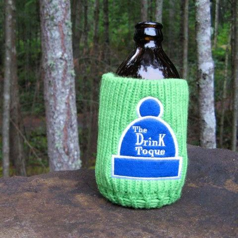 The Drink Toque - 'Lime Ricky'  Classic, vintage-style, knit koozie. Iconically Canadian.