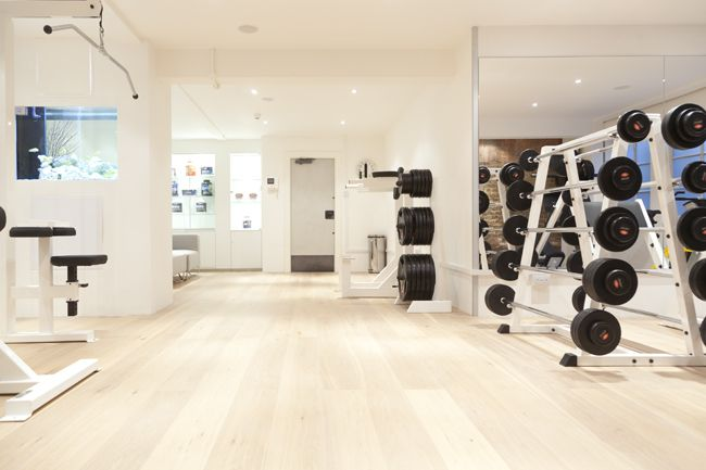 Personal Training Studio | supplements for sale at front counter in wall unit