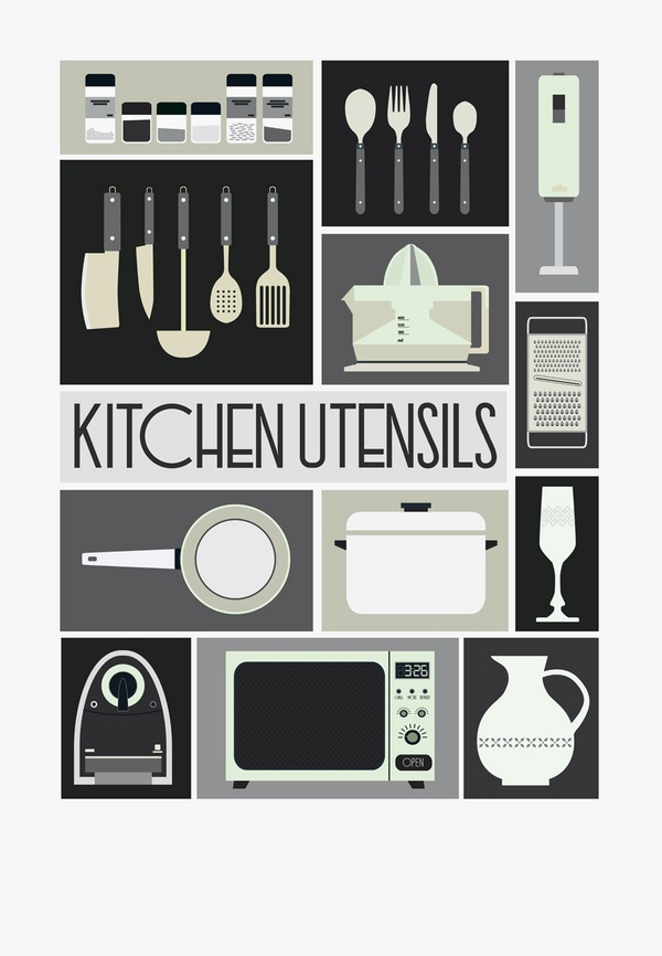 Kitchen utensils design neuf pinterest for Kitchen design 10 5 full patch