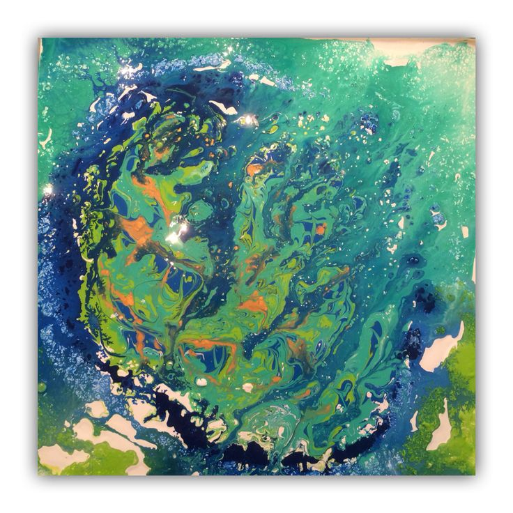 Swirled abstract painting 50x50cm by Erica Willemsen