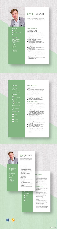 Docket Clerk Resume Template in 2020 Resume template