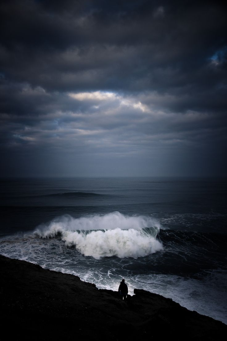 """Standing On The Shore On a Day Of """"BLACK and WHITE"""" Mike Watches As The Giant Wave Hurls Toward Him,He Has No Fear For It,s Only """"CRISTINA""""!!!!"""