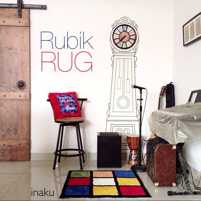 inaku Rubik Rug at the music corner
