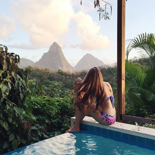 Anse Chastanet Resort in St. Lucia - beautiful views, Piton Pool Suite has its own pool, great food, 2 beaches, lots of activities, helicopter ride there from airport, lots of steps at resort