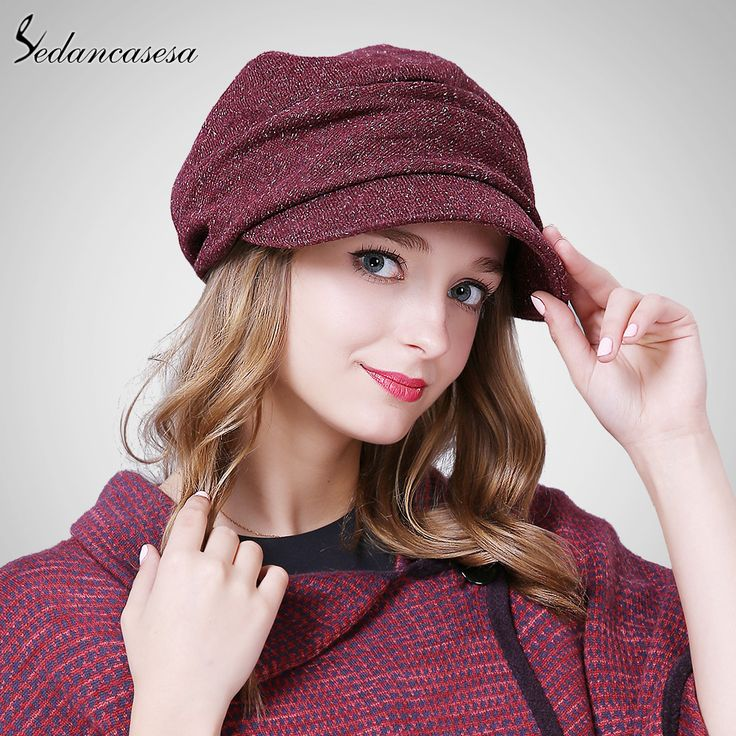 Female Hats Keep Warm Winter Autumn Hats Fold Beret Hat Korean Style Fashion Ladies Commuter Christmas WG160069 Just look, that`s outstanding! #shop #beauty #Woman's fashion #Products #Hat
