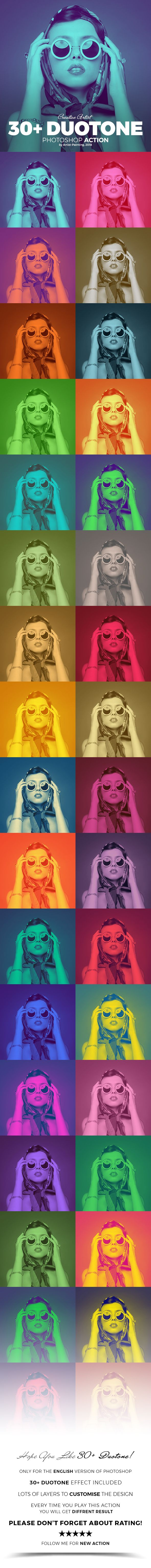 30+ Duotone Photoshop Action - Photo Effects Actions
